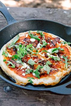Bacon & Date Campfire Pizza This sweet and savory camping recipe brings a gourmet twist to a classic campfire pizza cooked in a cast iron skillet. Best Camping Meals, Camping Dishes, Camping Recipes, Camping Cooking, Camping Ideas, Outdoor Camping, Backpacking Meals, Family Camping, Tent Camping