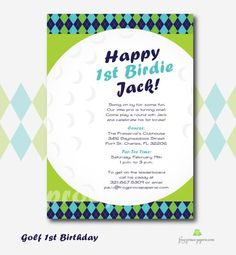 Cute golf theme birthday party! This will perfect for us in a couple years:)