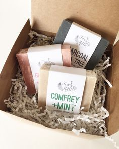 Three Soaps  Gift Box by FernandNettle on Etsy
