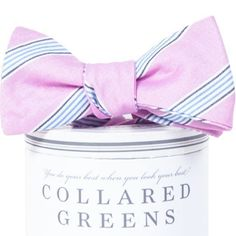 Collared Greens - Catalina Pink Bow Tie American Made, $55.00 (http://www.collaredgreens.com/products/catalina-pink-bow-tie-american-made.html/)