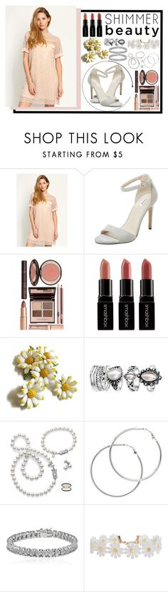 """""""daises"""" by pxper-crowns ❤ liked on Polyvore featuring Elorie, Charlotte Tilbury, Smashbox, Mikimoto, Melissa Odabash, Apples & Figs, Humble Chic and JOYCEFITS"""