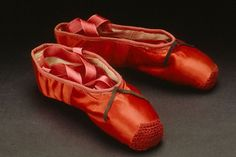 Freed of London- red ballet shoes made for Moira Shearer for her role as Victoria Page in the film 'The Red Shoes' (1948)