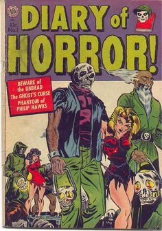 Diary of Horror #1, 1952 (Avon) cover by A.C. Hollingsworth.