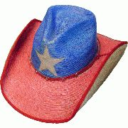 ad3379bfc9382 This Adult Palma Verde Texas Pride Straw Cowboy Hat has the stylish pinch  front crown with the red and blue colors and proud Texas star of Texas.