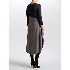 Buy Crea Concept Colour Block Drape Dress, Grey/Taupe Online at johnlewis.com