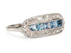 Heavenly Aquamarine Diamond Ring  2T