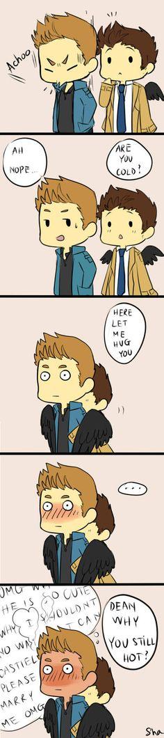 a short comic for destiel, break time :'3 back to work, again Dean, Cas @ Supernatural