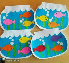fish crafts for toddlers preschool crafts Kids Crafts, Sea Crafts, Daycare Crafts, Summer Crafts, Toddler Crafts, Arts And Crafts, Summer Art Projects, Toddler Art, Animal Crafts