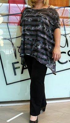 Patrón gratis: blusa fácil, todas las tallas