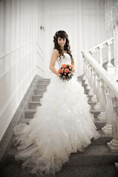 Custom Wedding Dresses that are Made to your Measurements by Multi Award Winning Bridal Salon in NJ. Specializing in Plus Sizes, Gothic, Red, Black and Unique Wedding Dresses. Pale Yellow Weddings, Yellow Wedding Dress, Gorgeous Wedding Dress, Modest Wedding Dresses, Wedding Dress Pictures, Wedding Poses, Wedding Bride, Wedding Ideas, Wedding Dressses