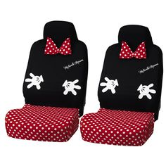 Who says cars have to be boring and plain, I say we Disneyfy them! These beautiful Minnie Seat Covers are perfect to turn up the Disney in the car, and also cover my leather seats in the Florida sun! These Minnie Seat Covers cover the full front seat, and have Minnie's iconic bow, with a …