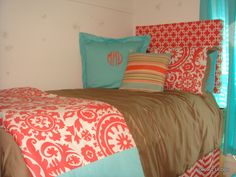 Tiffany Blue and Coral Beautiful Bedding coral teen girl bedding – Decor 2 Ur Door
