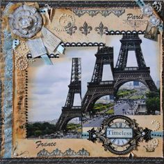 Timeless - Scrapbook.com  This page is as romantic as Paris itself!