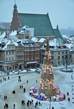Warsaw Old Town at Christmas.
