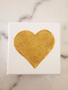 An excuse to use my martha stewart glitters! All it needs is a tiny canvas (this one is 4x4).
