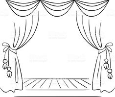 Theater stage vector sketch royalty-free theater stage vector sketch stock vector art & more images of curtain Design Principles Of Art, Curtain Drawing, Teatro Musical, Motion Images, Stage Curtains, Dream Catcher Tattoo Design, Drawing Sketches, Drawings, Theatre Stage