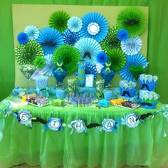 Candy station at Shari's Little Man Baby Shower