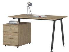 Das ansprechende Design macht diesen Tisch zu einem echten Hingucker. Auf der großzügigen Tischplatte können Sie Ihren Laptop oder Ihre Arbeitsutensilien bequem abstellen. Zudem bietet ein Fach und eine Schublade zusätzlichen Stauraum. Bringen Sie modernes Arbeitsambiente in Ihre Wohnung!
