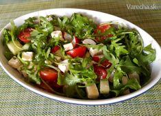 Letný šalát s rukolou, reďkovkami a balkánskym syrom - Recept Tofu, Guacamole, Feta, Spinach, Salads, Food And Drink, Vegetables, Ethnic Recipes, Vegetable Recipes