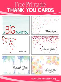 free thank you notes