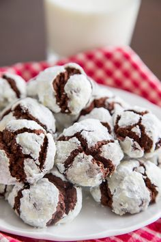 This recipe makes a crinkle cookie just like the ones I spent my childhood baking and eating. They're soft, tender, and just a little bit chewy, with a delicate exterior that's coated with a thick layer of powdered sugar.