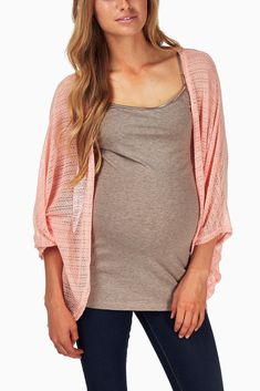 Peach-Knit-Maternity-Cardigan #maternity #fashion