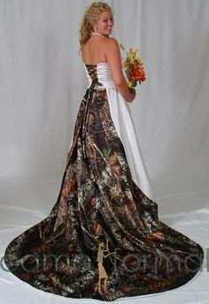 wedding dresses with camo | Camo Weddings: The Best Cakes, Dresses & More | HuntingBoots.com News