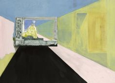 Peter Doig (British, b. 1959), Lion in the Road, 2015. Oil and distemper on linen, 200 x 276 cm.