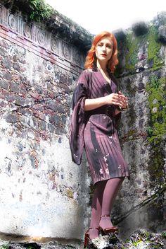 AMBER_DOYLE_12_ike_ude Vintage Kimono, Vintage Bohemian, Chic Dress, Special Guest, Dress Outfits, Dresses, Leather Skirt, Amber, Fashion Beauty