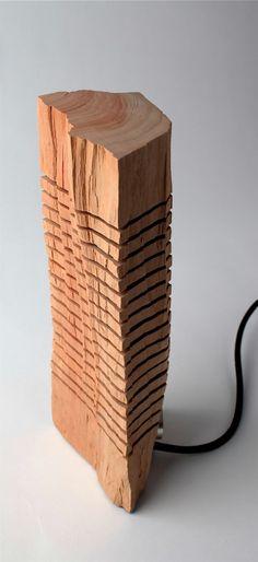 Originelles Holz Lampen Design