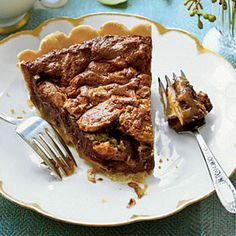 Chocolate caramel pecan pie.