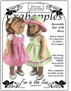 Fun in the Sun PDF Sewing Pattern for by CrabapplesBoutique