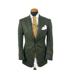 Men s Mario Barutti Blazer size 40S UK gr. 25 Cashmere Wool Plaid Checked Tweed