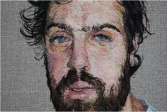 More embroidered portraits: Daniel Kornrumpf