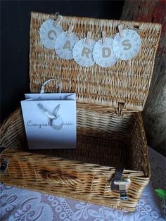 Wedding Cards Box Out Of Picnic Basket