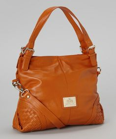 ce5a07bdae1b56 Loving this Burnt Orange Taylor Leather Crossbody Bag on #zulily!  #zulilyfinds Orange Accessories