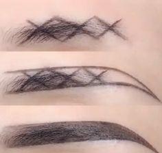 Reticulated eyebrow makeup – – Reticulated Augenbrauen Make-up – – Eyebrow Makeup Tips, Makeup Videos, Makeup Hacks, Skin Makeup, Makeup Eyebrows, Beauty Makeup Tips, Makeup Brush, Make Up Tutorial Contouring, Eyebrow Tutorial