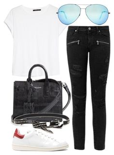 """""""Untitled #2290"""" by dkfashion-658 ❤ liked on Polyvore featuring MANGO, Victoria Beckham, Isabel Marant, Paige Denim, Yves Saint Laurent and B-Low the Belt"""