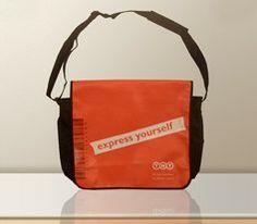 Kuriertaschen, LKW-Planen-Taschen -- hergestellt und bedruckt ab Auflage 50 Stück.  Mehr Bilder und Details unter: http://www.bagobag.com/kuriertaschen-lkw-planen-taschen.html