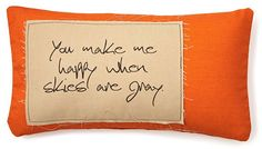 """Happy"" 12x24 Pillow, Orange on shopstyle.com"