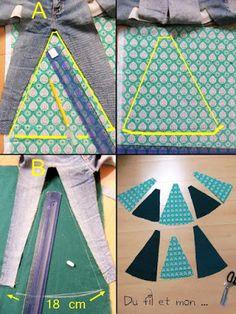 DIY : Recycler un vieux jean en jupe