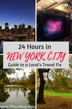 """24 hours in New York City was our perfect solution to """"getting away"""", when we didn't have the time for a real vacation. Our night and day in the city involved a hotel, Broadway, a museum visit, Central Park and more. Here's our guide to how to make a mini vaca happen right in your backyard!"""