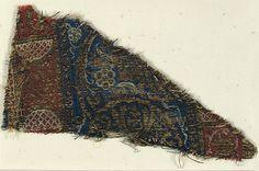 Textile Date: 14th century Culture: Italian (?) Medium: Silk, gilt thread Dimensions: Overall: 3 15/16 × 6 5/8 in. (10 × 16.8 cm) Storage (Mat): 8 1/4 × 13 in. (21 × 33 cm) Classification: Textiles-Woven