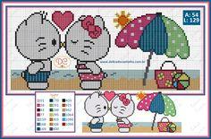 Delicado Cantinho: Gráfico Ponto Cruz Hello Kitty com Daniel