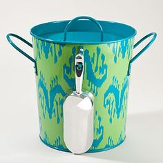 Style Steal! Adorable + Practical  for outdoor parties   Rio Ikat Ice Bucket | World Market