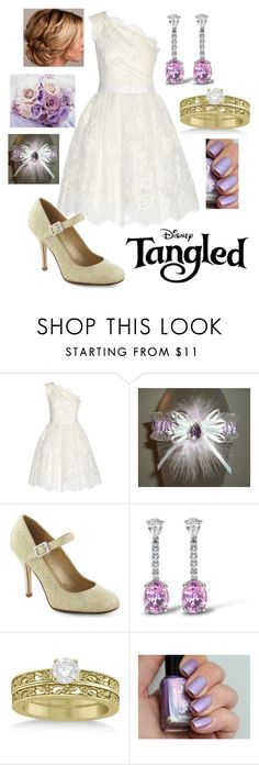 """Disney - Rapunzel"" by briony-jae ❤ liked on Polyvore featuring Marchesa, Asprey and Allurez"