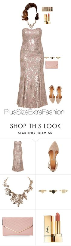 """Vintage Nude Pink: Plus Size Formal Outfit"" by plussizeextrafashion ❤ liked on Polyvore featuring Ariella, Charlotte Russe, LORAC, Humble Chic, Sasha, Yves Saint Laurent and vintage"