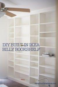 diy built in ikea billy bookshelf 01