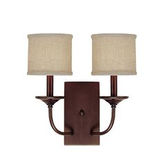 Capital Lighting 1982-468 Loft 2 Light Candle-Style Wall Sconce Burnished Bronze Indoor Lighting Wall Sconces Wall Sconces