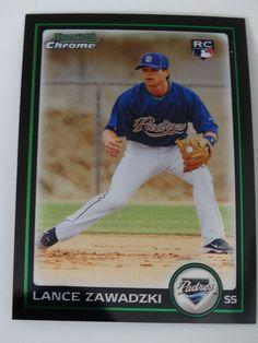 2010 Bowman Chrome #220 Lance Zawadzki San Diego Padres Rookie RC Baseball Card #BowmanChrome #SanDiegoPadres
